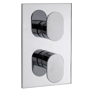 Plaza Concealed Thermostatic Shower Valve with 2 way Diverter