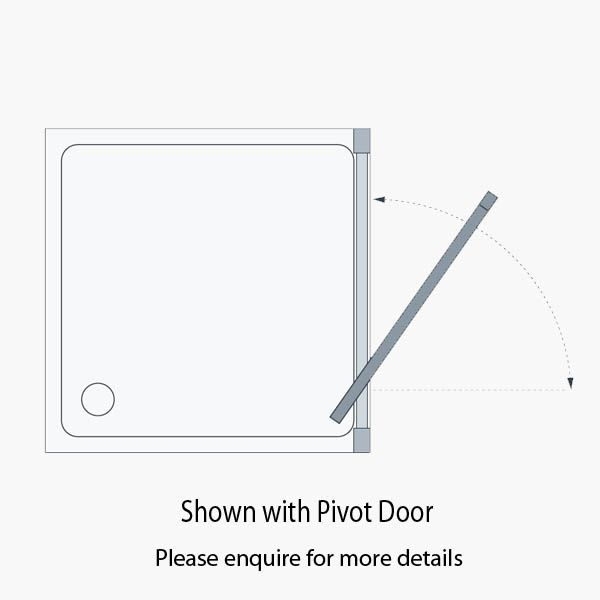 technical information for Reduced Height Shower Pivot Door