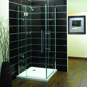 1000mm x 1000mm Aqualux Pura Shower Enclosure Corner Entry