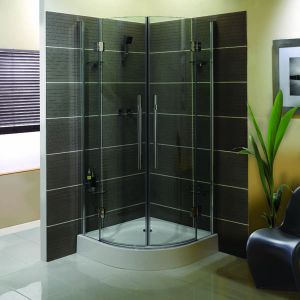 900mm x 900mm Aqualux Pura Double Door Shower Quadrant Enclosure