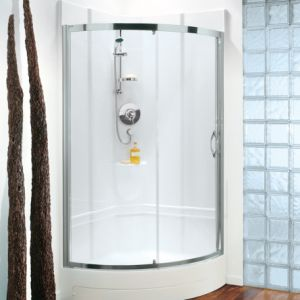 Coram Showerpod - 850mm x 850mm Premier Crescent Chrome