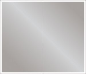 HiB Qubic 80 LED Mirrored Aluminium Bathroom Cabinet