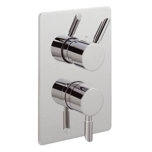 Rocco Concealed Thermostatic Shower Valve with 2 way Diverter