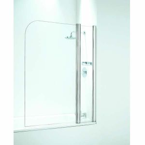 Coram Shower Screen 1050mm Curved Bath Screen with Panel