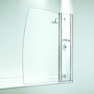 Coram Shower Screen 1050mm Sail Bath Screen with Panel