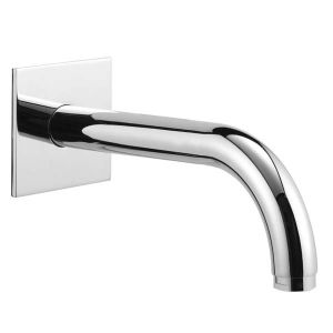 180mm Wall Spout and Square Cover Plate