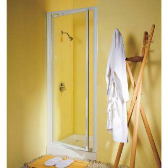 reduced height 1750mm x 750mm shower pivot door silver