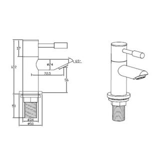 Series F Bath Taps (Pair)