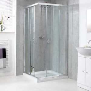 800mm x 800mm Aqualux Shine Shower Enclosure Corner Entry