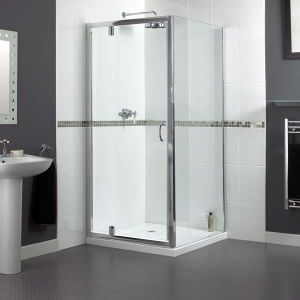900mm Aqualux Shine Shower Pivot Door