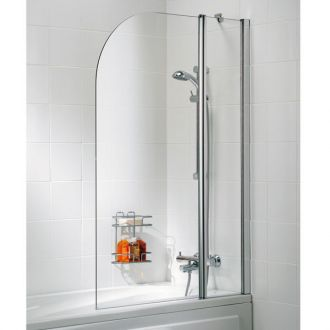 Lakes Bath Screen -Curved (Double Panel)