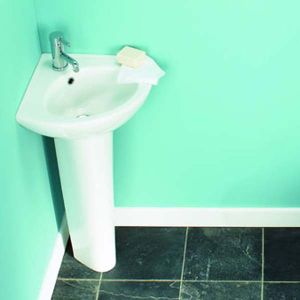 Sinks for the Bathroom - Tribune Corner Basin & Unislim Pedestal