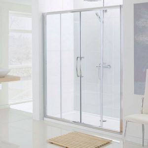 1800mm Lakes Semi Frameless Double Slider Shower Door
