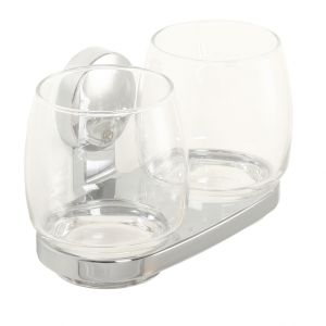 Punto Uno Twin Tumblers and Holder