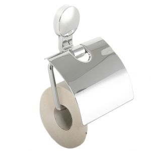 Punto Uno Toilet Roll Holder Extra Sturdy with Soft Close Lid