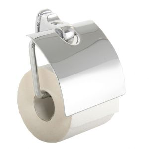 Kami Toilet Roll Holder Extra Sturdy with Soft Close Lid