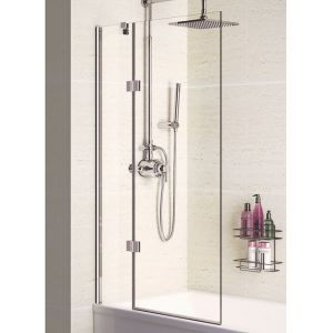 Lakes 8mm Hinged Bath Screen 1000mm x 1500mm