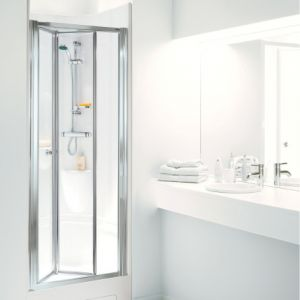 Coram Showerpod - 915mm x 805mm Optima Bi-Fold Door Chrome