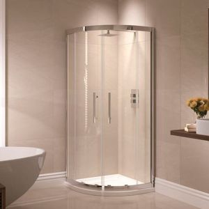 April Prestige 900 x 760mm Double Door Offset Quadrant