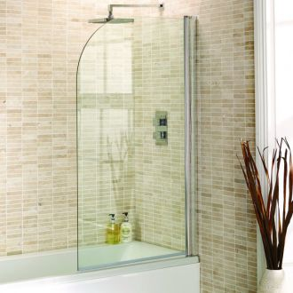 Aquadart Curved Bath Screen 8mm Glass