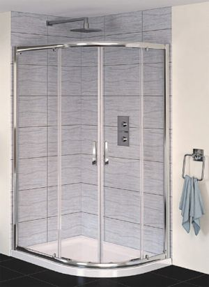 Aqualux - Aqua 6 - 1200mm x 900mm Offsett Quadrant Shower Enclosure