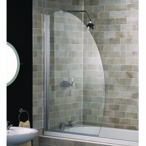 An Oval Bath Screen from Aqualux