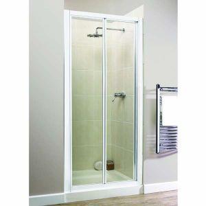Aqualux aquarius xtra bi fold shower door 1000mm aquarius for 1000 bi fold shower door
