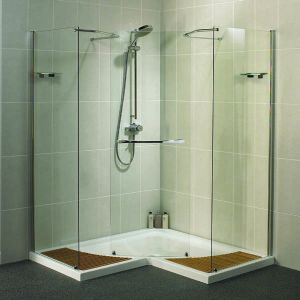 The Aquaspace corner walk-in Shower for Disabled users