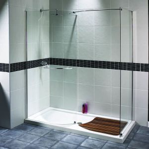Aqualux AquaSpace Walk-in Shower Panel 1400mm x 800mm