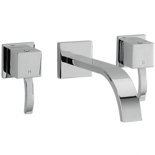 Arke Wall Mounted 3 Hole Bath Filler - 180mm Spout