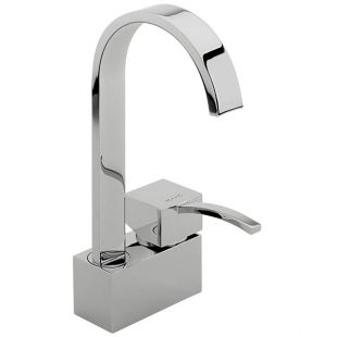 Arke Monobloc Basin Mixer (Swivel Spout, No Pop-up Waste)