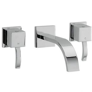 Arke Wall Mounted 3 Hole Basin Mixer - 160mm Spout