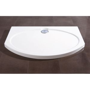Coram 1200mm Bow Front White Slimline Tray