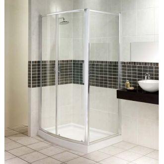 Manhattan Shower Enclosure 1200mm Bowfront Slider