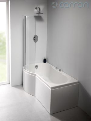 Carron Carronite Arc Curved Shower Bath