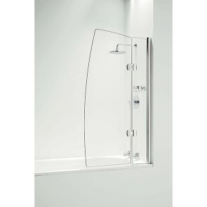 Coram Hinged 800mm Sail Bath Screen with Panel