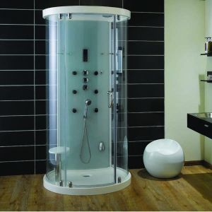 Aqualux Crysta Round Steam Cabin 930mm x 1100mm