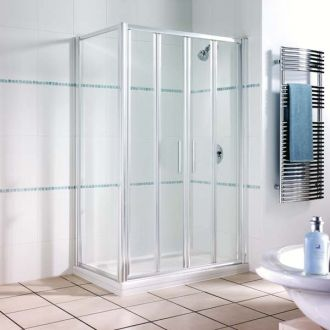 Manhattan Shower Enclosure 1200mm Double Bifold Door