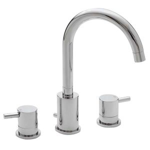 Ergo Lever 3 Hole Basin Mixer (with pop-up waste)