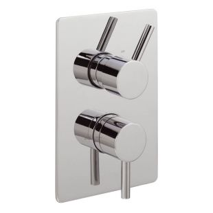 Ergo Lever Concealed Thermostatic Shower Valve with 2 way Diverter