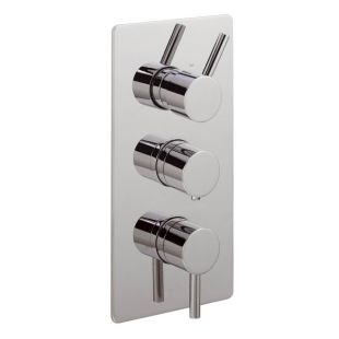 Ergo Lever Concealed Thermostatic Shower Valve with 3 way Diverter