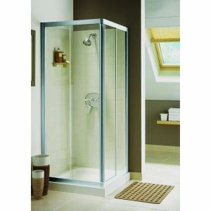 Aqualux Elite Classic 760mm x 760mm Shower Enclosure Corner Entry