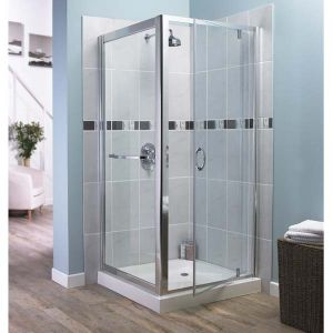 Aqualux Elite Classic Frameless Shower Pivot Door 900mm x 900mm