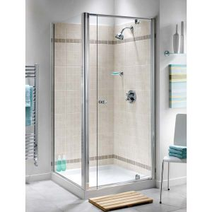 800mm Ellbee Profile Plus Semi Frameless Pivot Door Shower Enclosure