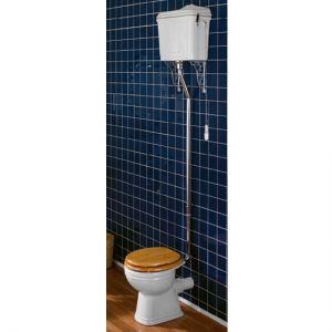 Hadrian Era High Level Traditional WC Pan & Cistern Set