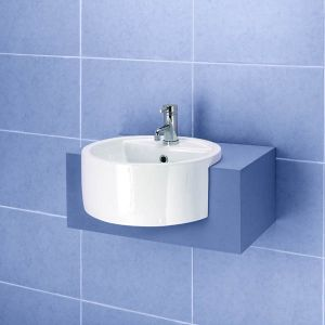 Sinks for the Bathroom - Impala Semi-Recessed Basin