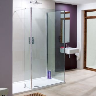 Lakes Bathrooms Coastline Collection Andora Walk-In Shower 1350mm