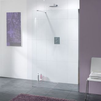 10mm Glass Lakes Bathrooms Coastline Collection Cannes Shower Screen 900mm