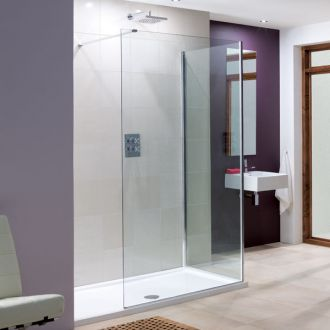 Lakes Bathrooms Coastline Collection Marseilles Walk-In Shower 1400mm