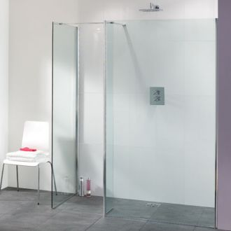 Lakes Bathrooms Coastline Collection Palma Walk-In Shower 1000mm